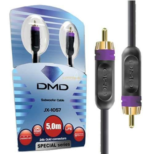 Cabo Subwoofer Serie Special Diamond Cable Ouro Jx-1057 5m