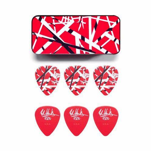 Caixa 6 Palhetas Maxgrip 0.60mm Eddie Van Halen Vermelha - Dunlop