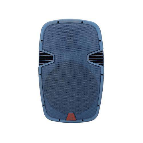 """Caixa Acústica Amplificada Ativa K2 Áudio 15"""" 400W Rms Preta e Azul Bivolt"""