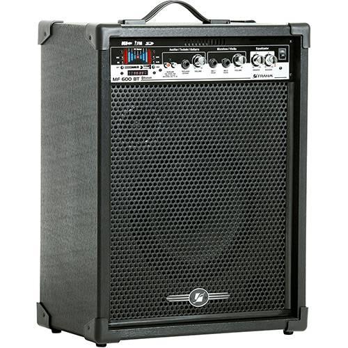 Caixa Acústica Amplificada Frahm MF 600 BT Preto Bluetooth/USB/SD Card/ Rádio FM/ Controle Remoto 80w Rms