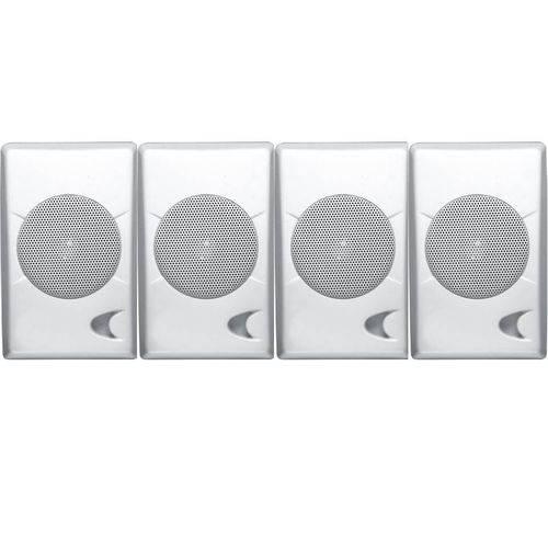 Caixa Acústica Som Ambiente Pb75 Branca 35w - 4 Peças