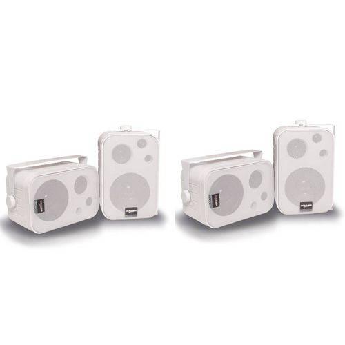 Caixa Acústica Som Ambiente Sp400 Branca 60w Rms (2 Pares)