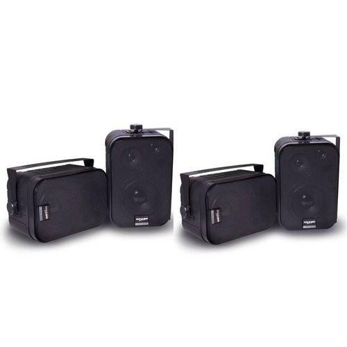 Caixa Acústica Som Ambiente Sp400 Preta 60w Rms (2 Pares)