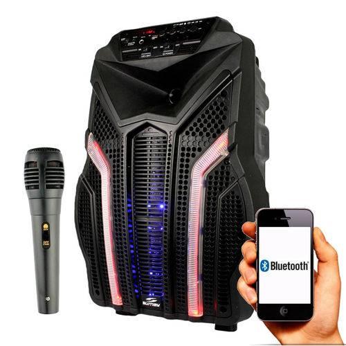 Caixa Acustica Sumay Fortress 200w Bluetooth USB SD C/microfone