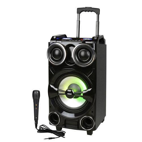 Caixa Acústica (trolley Speakers) com Rodinhas e Bluetooth 300w Rms Bivolt - Vc-7301 - Preto