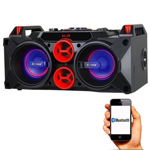 Caixa Amplificada Amvox Led Bluetooth 150w Aca 768 - C/Microfone