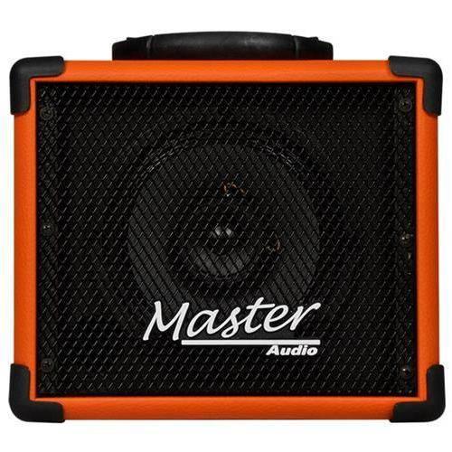 Caixa Amplificada Bluetooth Entrada USB e Radio Fm 20 Watts Laranja Mu80 - Master Audio