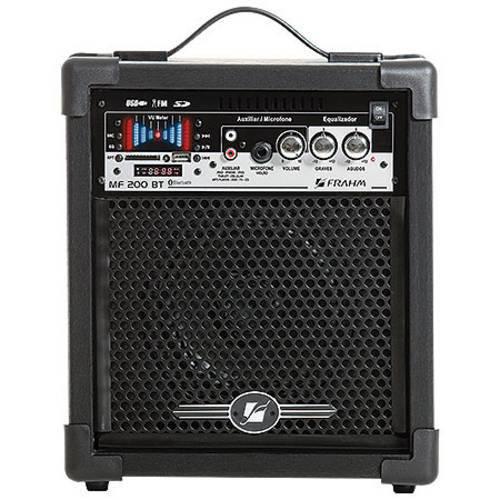 Caixa Amplificada Frahm Mf 200bt 50 Rms Woofer ´´´´6´´´´ Bluetooth, Usb, Sd Card e Fm, Auxiliar