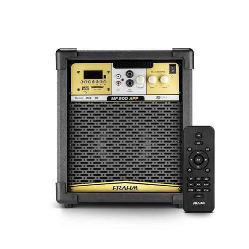 "Caixa Amplificada MF200 APP 80W RMS 6"" Coaxial Frahm"