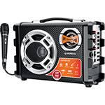 Caixa Amplificada Mondial MCO-01 Multi Connect Thunder 40W RMS, Gravador FM, USB, SD Card, Acompanha Microfone
