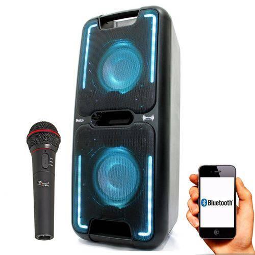 Caixa Amplificada Philco Pcx5500 200w C/microfone + APP