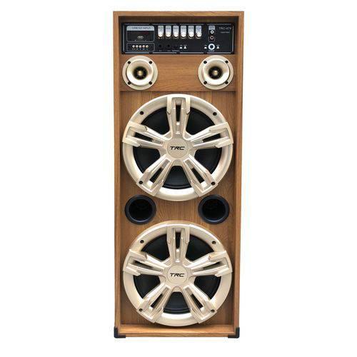 Caixa Amplificada Trc com Mp3. Fm. Bluetooth. 2 Microfones. 450wrms. Entradas USB e Sd Retro Trc479