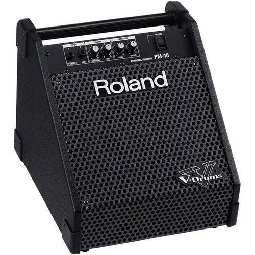 Caixa Amplificador para Bateria Elêtronica Roland Pm-10