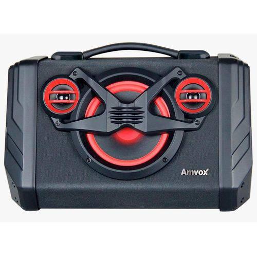 Caixa Amplificadora Amvox Aca-110 Bluetooth, Entradas Usb e Auxiliar, Rádio Fm, 80w Rms