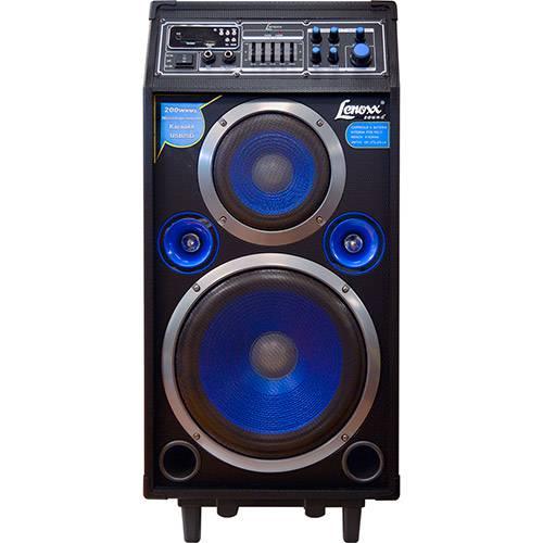 Caixa Amplificadora Multiuso Lenoxx CA 316 200W Karaokê USB/Cartão SD/ Sistema Microfone Sem Fio