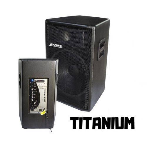 Caixa Ativa 300w Rms USB Fm Sd Bluetooth 15 Datrel Titanio
