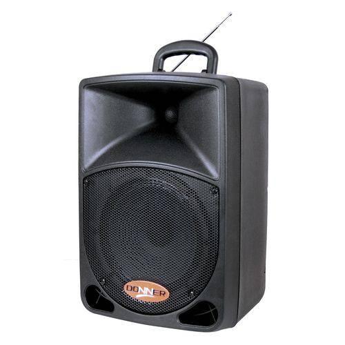 Caixa Ativa DR8 Bateria Recarregavel 12 Volts com Microfone Sem Fio 80w