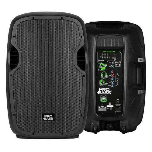 Caixa Ativa Pro Bass 15 Elevate Par / Bluetooth USB Mp3