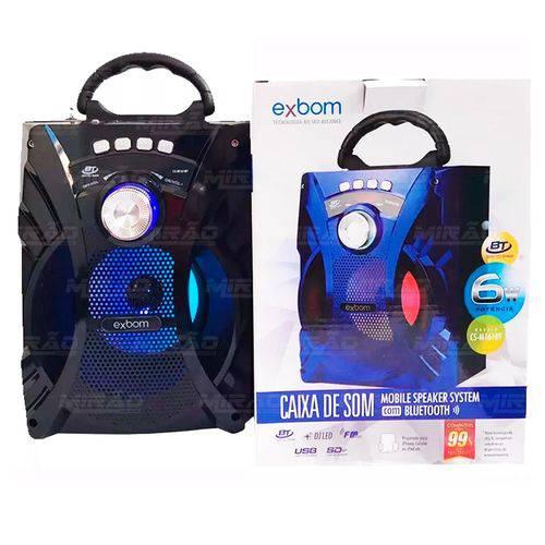 Caixa Bluetooth 5watts Super Bass com Visor Sd Usb Fm Exbom - Cs-m161bt
