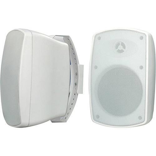 Caixa de Som Ambiente Sumay CSA40B Branco 60W (Par) MP3