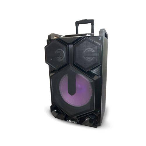 Caixa de Som Amplificada 2000w Alta Performance SD, Aux, Fm, BT, Mic S/Fio Lendex
