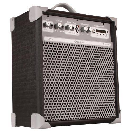 Caixa de Som Amplificada 55w Usb 8 Pol Preto Up8 Ll Áudio