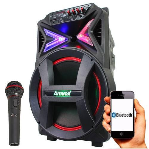 Caixa de Som Amplificada Amvox Aca 292 - 290w C/microfone