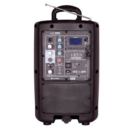 Caixa de Som Amplificada com Bateria Interna Donner DR08 Bat