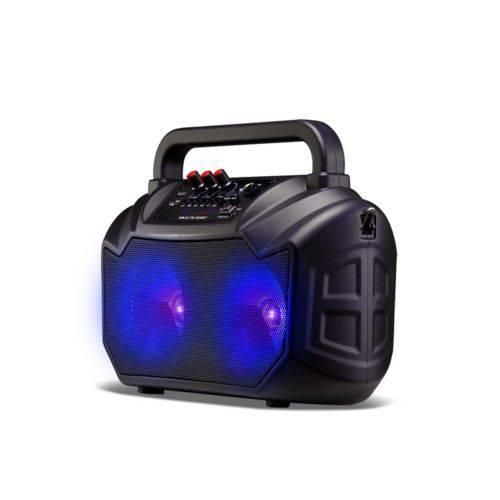 Caixa de Som Amplificada Multilaser Sp289 80w, 5 Cores Diferentes que Mudam Simultaneamente, Bluetooth, Rádio Fm, Cartão Sd.