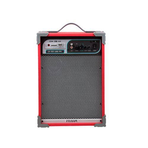 Caixa de Som Amplificada Multiuso Ca 100 Vermelha 50w - Frahm