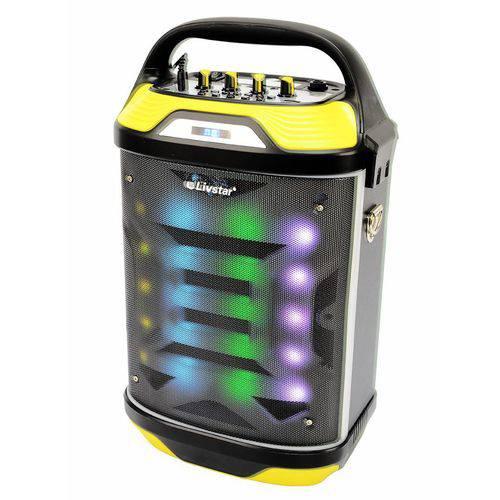 Caixa de Som Amplificada Radio Livstar Cnn-68sp Bluetooth USB Sd Luz