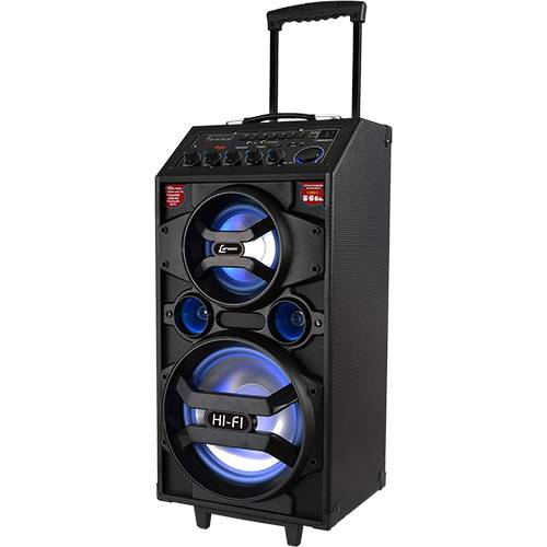 Caixa de Som Amplificadora Bluetooth Lenoxx CA318 Preta 300W Multiuso com Karaokê