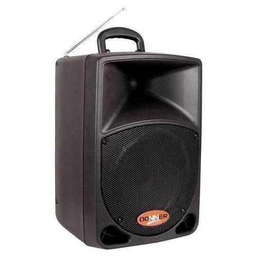 Caixa de Som Ativa Donner 80w Preta Dr08bat Ll Áudio