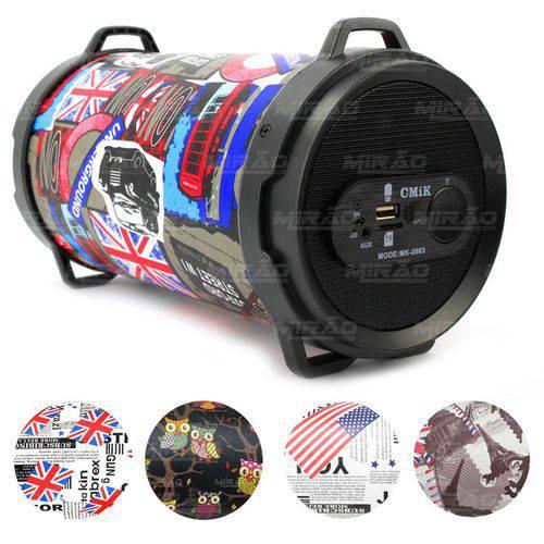 Caixa de Som Bazooka Bluetooth Diversas Estampas - Mk-2003