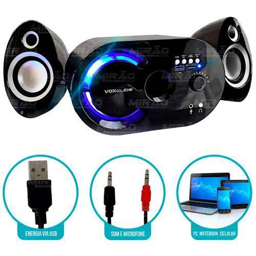Caixa de Som Bluetooth 18w com Subwoofer Wireless 2.1 Canais com Fm e Multimídia Infokit - Vc-g320bt