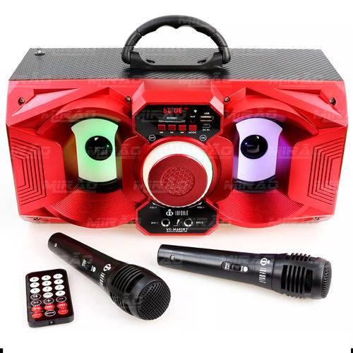 Caixa de Som Bluetooth 12watts Super Bass com Visor Vc-m602bt