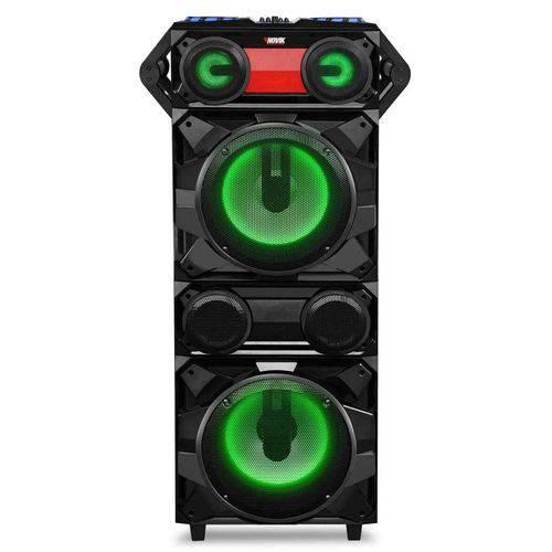 Caixa de Som Bluetooth para Festa com Luzes Novik Neo Earthquake DJ