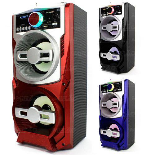 Caixa de Som Bluetooth Super Bass 12w P10 Exbom - Cs-m482bt