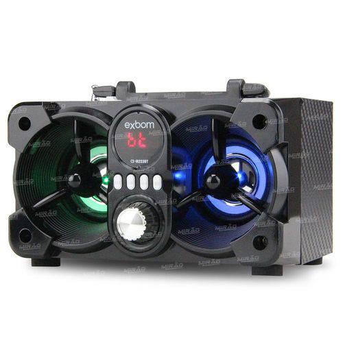 Caixa de Som Bluetooth Super Bass com Visor Sd/usb/fm - Cs-m223bt