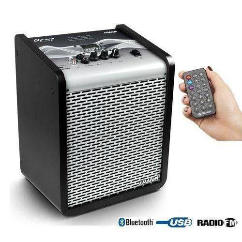 Caixa de Som Chroma Cr400 Silver App Bt USB Fm 100 W Rms Frahm