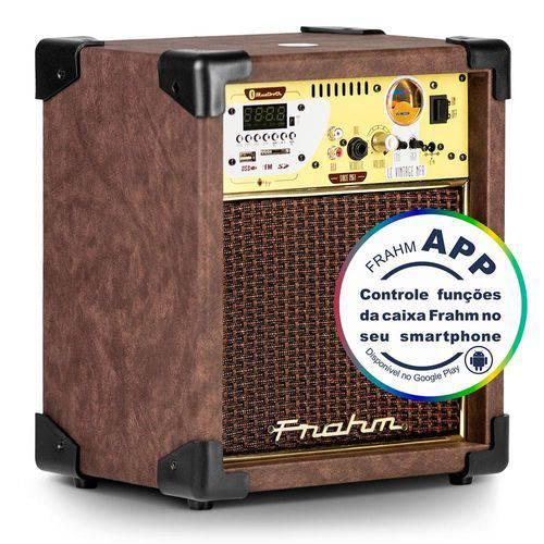 Caixa de Som Frahm LC Battery Vintage NFAAPP Amplificada Multiuso USB, SD e Bluetooth - 60 WRMS