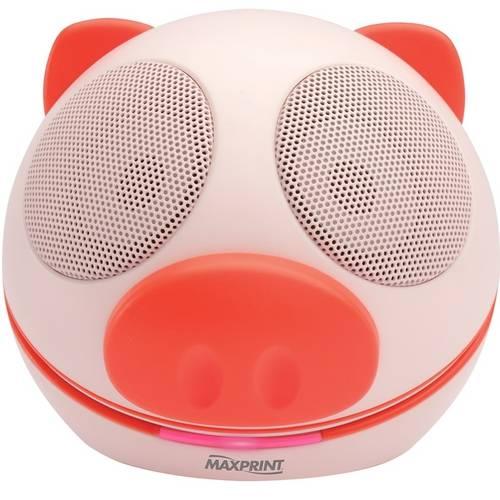 Caixa de Som Mini Pig Portátil 607340 Maxprint