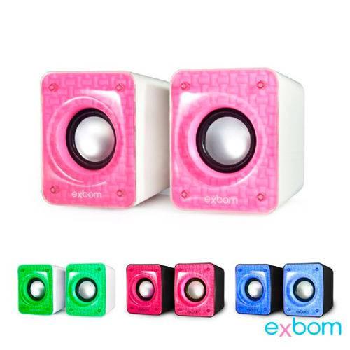 Caixa de Som para Computador e Smartphone 6w com Bass Exbom - Cs-86