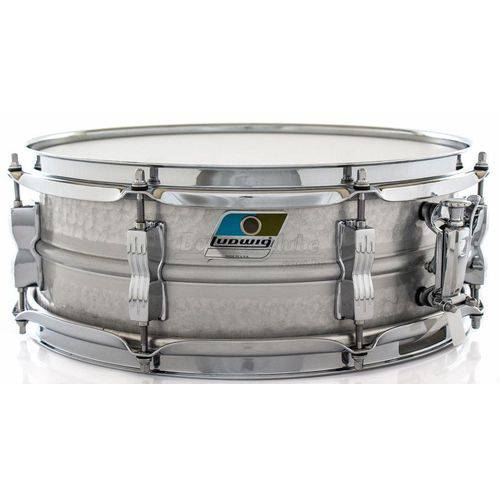 Caixa Ludwig Acrolite Classic Lm404k Aluminum Hammered Shell 14x5¨ Made In Usa