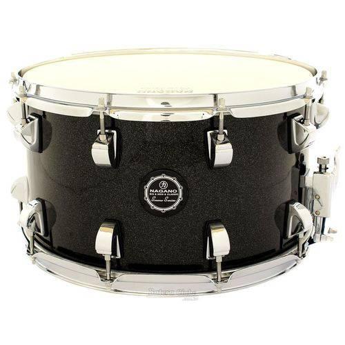 Caixa Nagano Snare Series Big Beat Ebony Sparkle 14x8¨