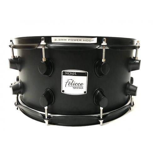 Caixa para Bateria 14x7 Noah Nell Drums Matt Black 10 Afin.