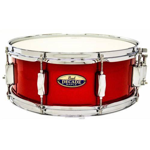 Caixa Pearl Decade Maple Red Glitter 14x5,5¨ com Casco Fino
