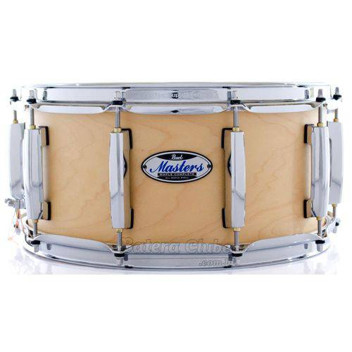 Caixa Pearl Masters Maple Complete Satin Natural 14x6,5¨ Thin Shell Evenply-six