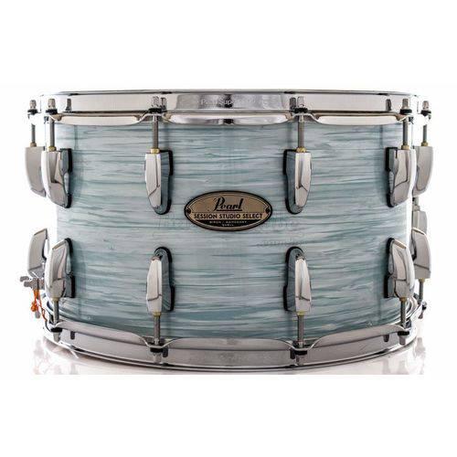 Caixa Pearl Session Studio Select Ice Blue Oyster 14x8¨ Casco Fino Híbrido em Mogno e Birch