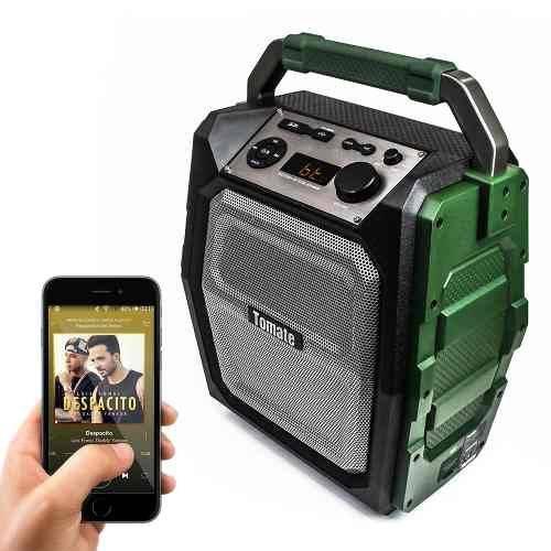 Caixa Portátil Mts-888 Amplificada Bluetooth Tomate